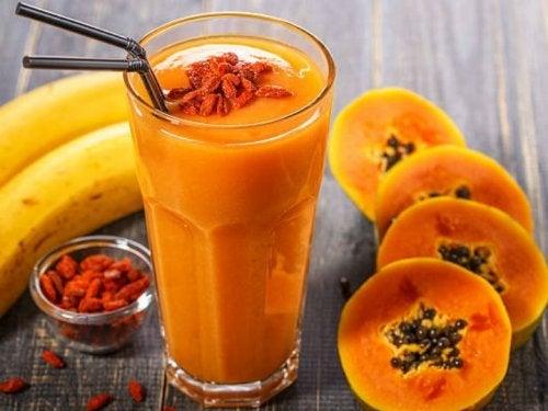 licuado de papaya con sabila