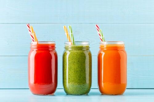 Los batidos caseros ayudan a tomar frutas y vegetales.