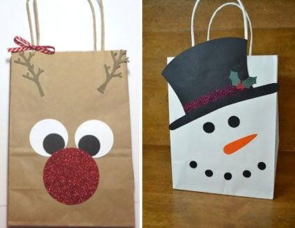 bolsa de regalo estilo navideño