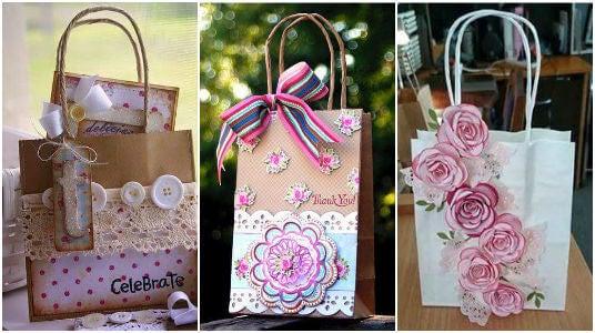 bolsa de regalo flores