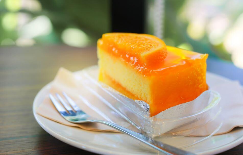 Cheesecake de naranja.