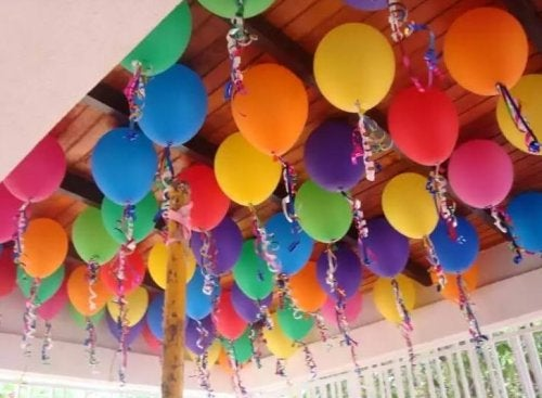 Decoración con globos.