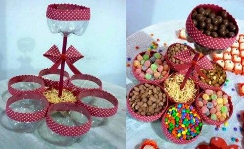 Podemos crear un dispensar de dulces de muchas maneras.