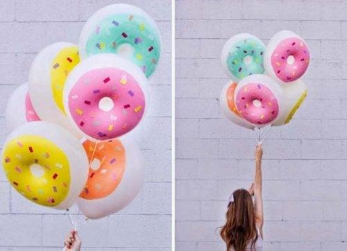 Diversión con globos.