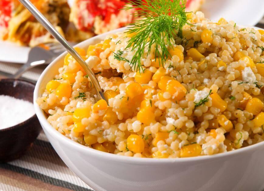 Ensalada de quinoa y maíz.