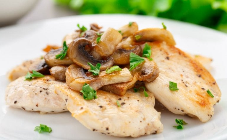 Receta para preparar filete de pollo gratinado con setas