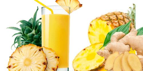 jugo de jengibre y piña