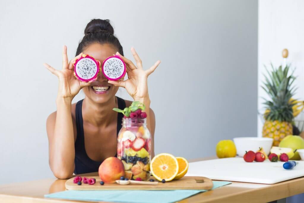 Mujer alimentación balanceada