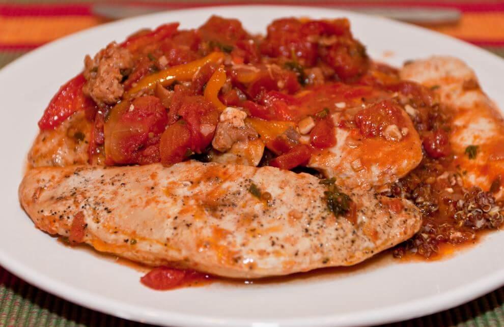 Pechuga de pollo al tomate.