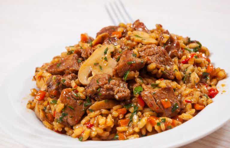 Receta de arroz chino con pollo y miel