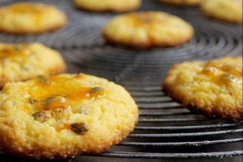 Receta de galletas con maracuyá.