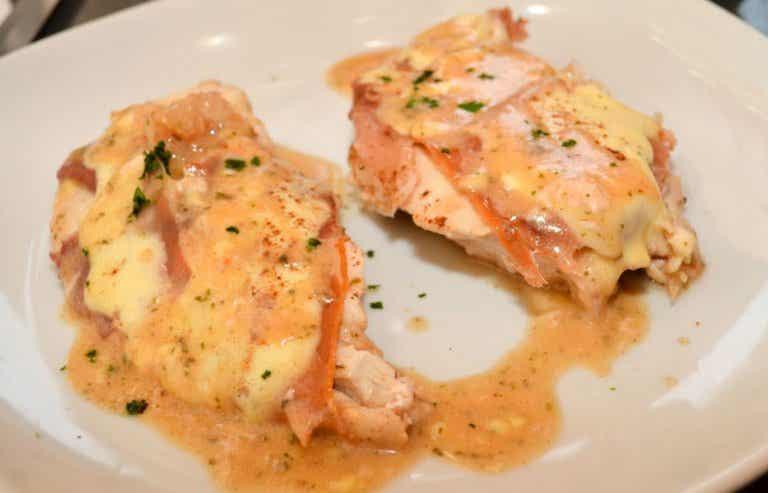 Receta de pechuga de pollo al roquefort