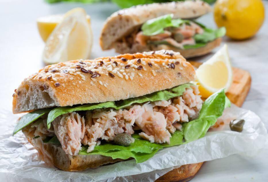 Receta de sandwich de atún-