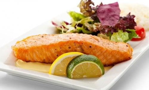 Salmon en salsa de limon