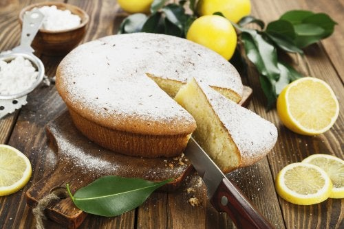 Tarta de jengibre, limón y miel