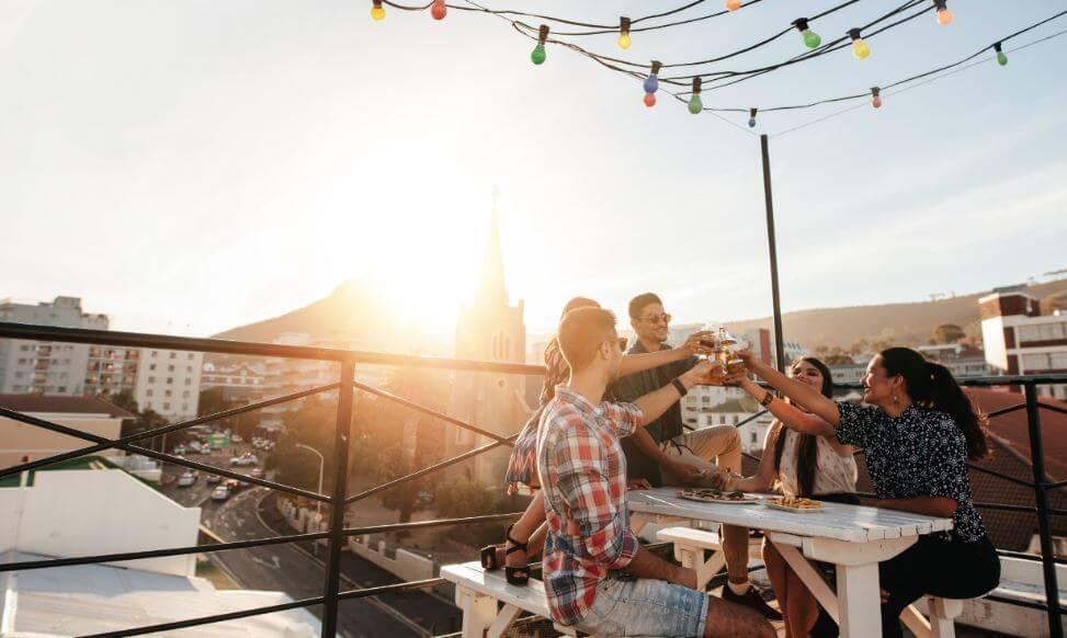 Tener una terraza de sueños.