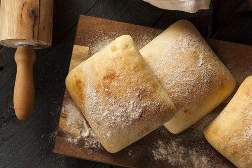 Pão branco industrial