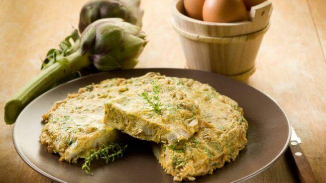 Receta de tortilla de alcachofa y queso