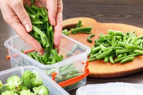 Es bueno separar los alimentos en diferente tuppers.