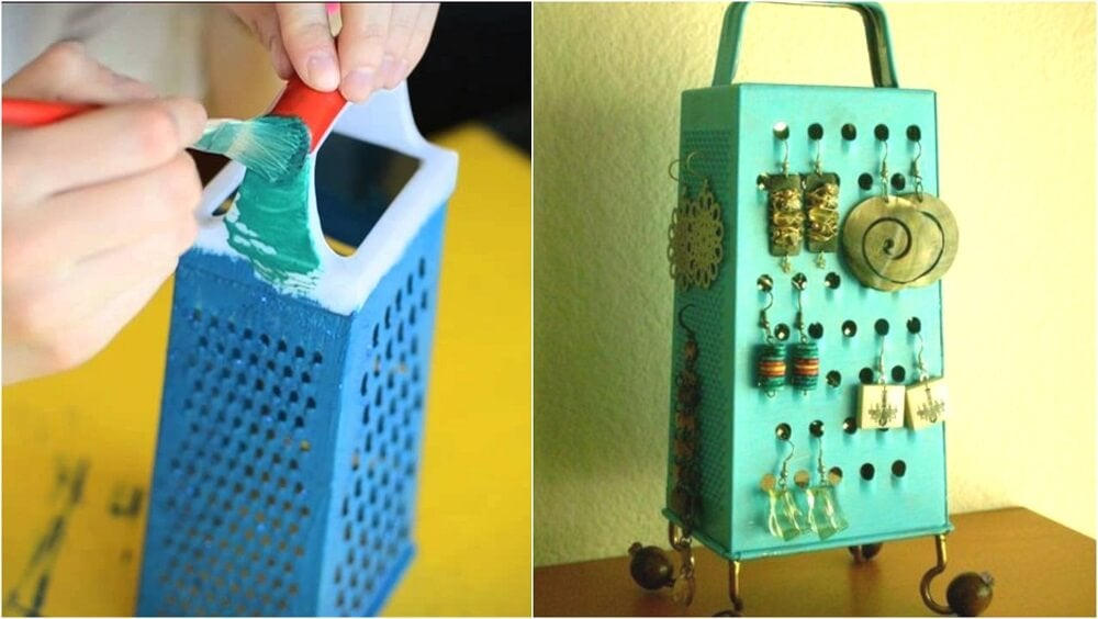 Joyeros con materiales reutilizables: rallador