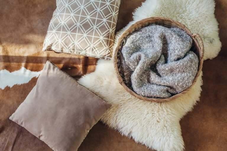 Accesorios textiles para el dormitorio.