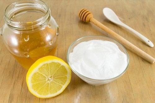 bicarbonato, miel y limón