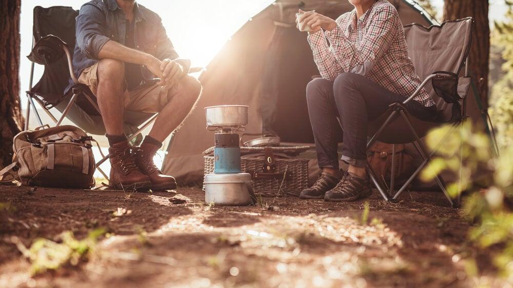 Campamento con amigos.
