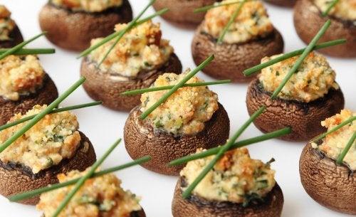deliciosos-champiñones-rellenos-veganos
