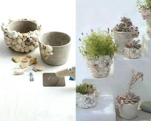 Ideas para crear tus propios jarrones.