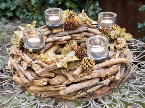 La decoración con ramas es un excelente accesorio para tu hogar.