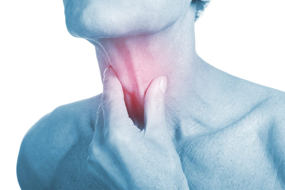 Cuerpo de y dolor de garganta dolor