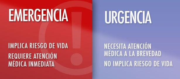 Urgencia y emergencia.