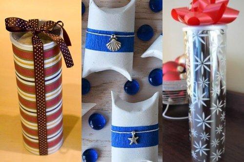 Empaques para regalos con tubos reciclados