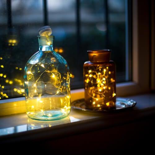 Pasos para hacer lámparas con frascos reciclados
