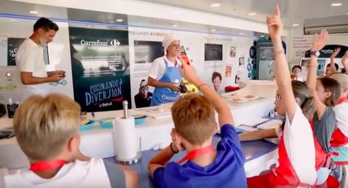 Los hábitos saludables La Caravana de la Salud de Carrefour.