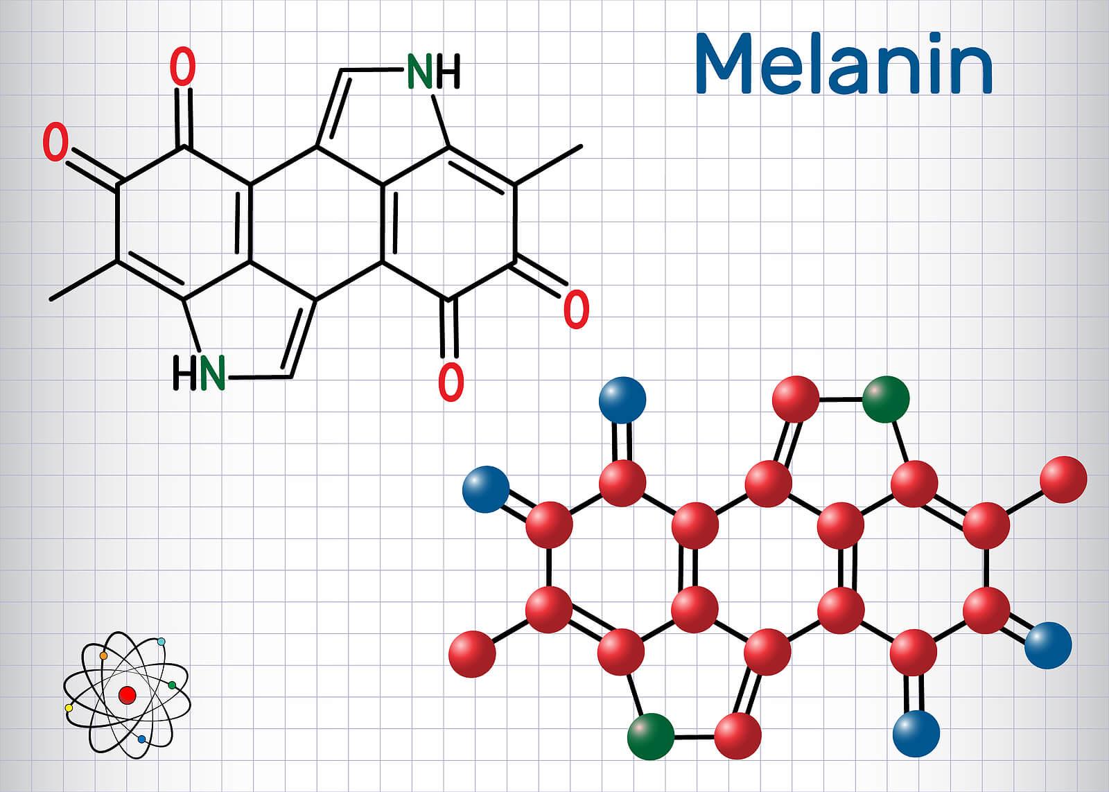 Molécula de melanina.