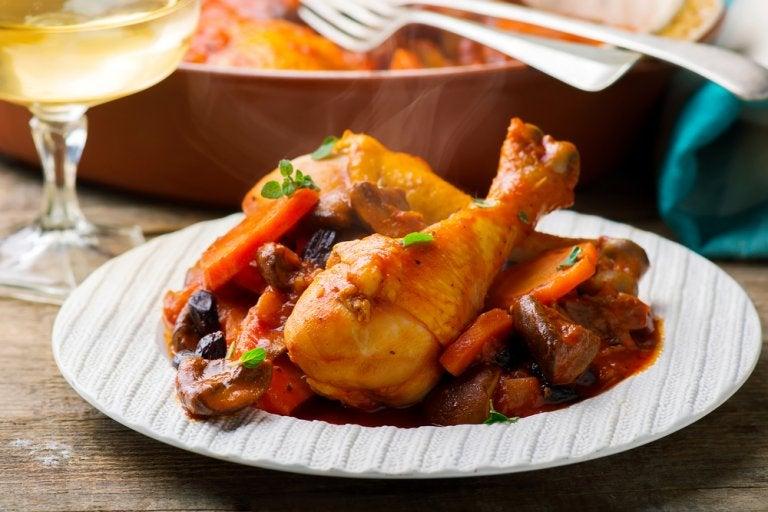 Cómo preparar pollo estofado