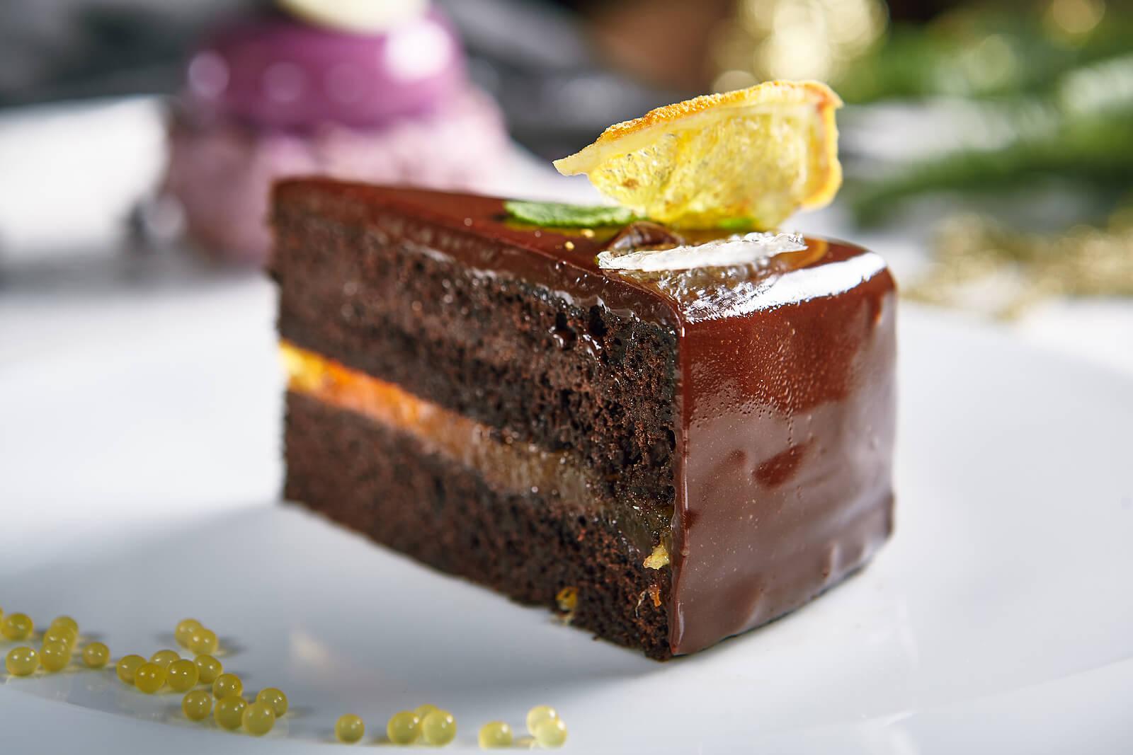 Torta de chocolate con limón.