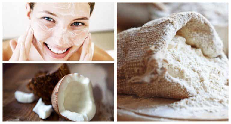 Exfoliante de coco y harina de almendras: una solución contra el acné