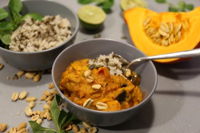 Receta de arroz jazmín con calabaza