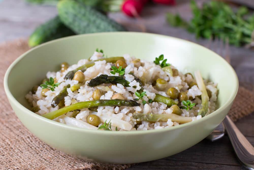 Arroz con verduras y chía: bajo en calorías y colesterol