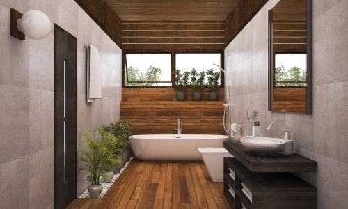 Accesorios para complementar la decoración del baño