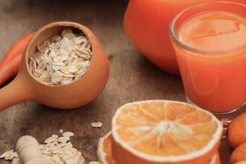 Batido-de avena-con-zanahoria-y-naranja