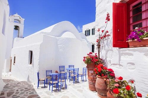 Casa al estilo griego.