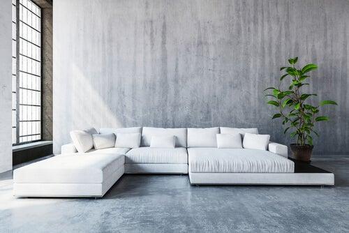 Salón minimalista simple.