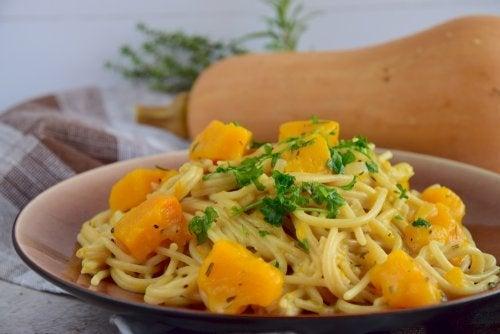 Receta de espaguetis con calabaza