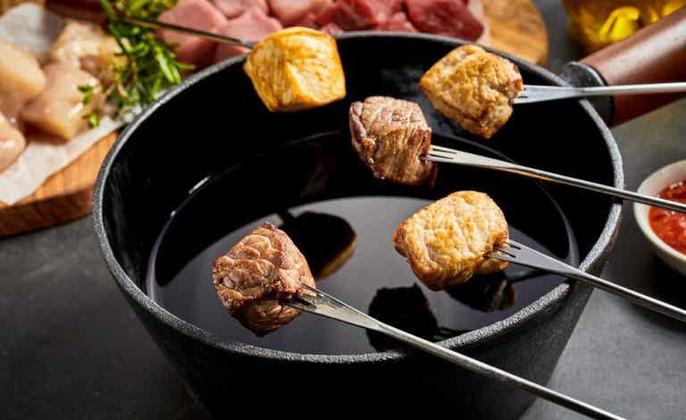 Fondue de carne, una comida para compartir