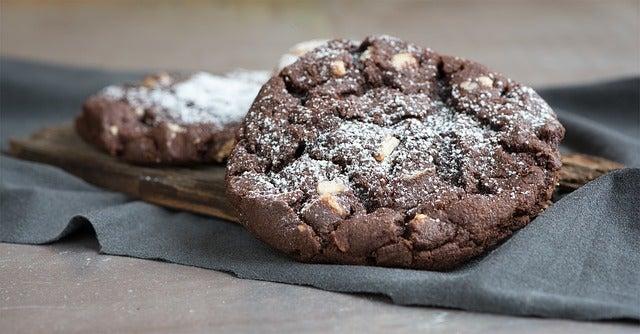 Galletas de chocolate para tarta de chocolate y menta