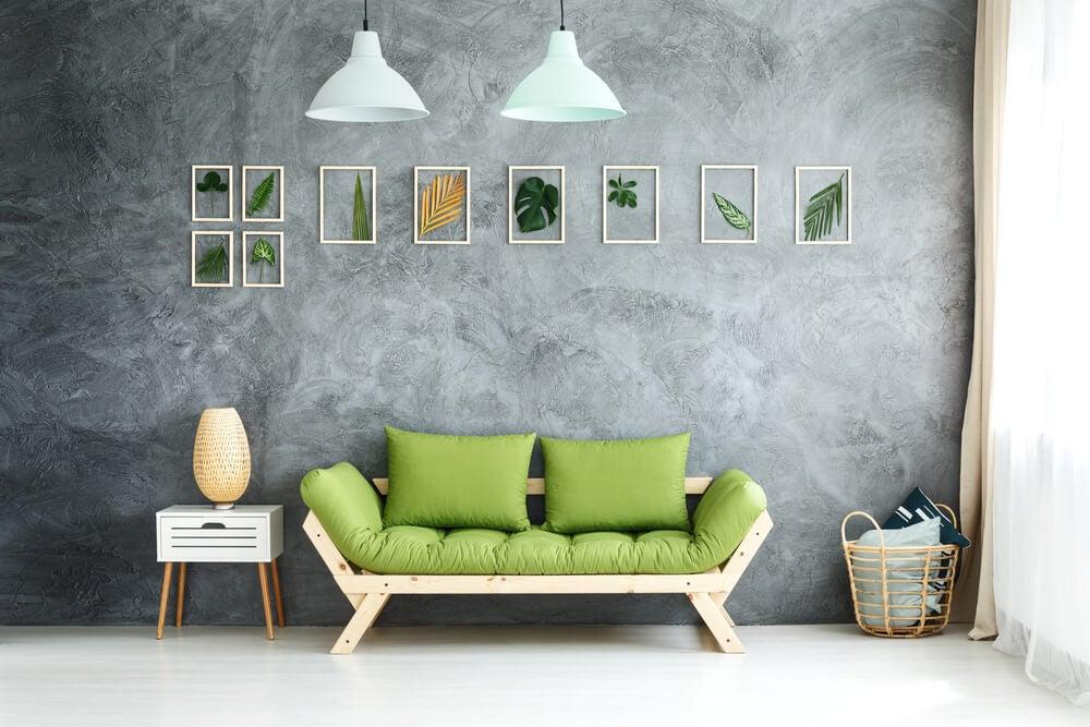 El estilo tropical para la decoración del salón.