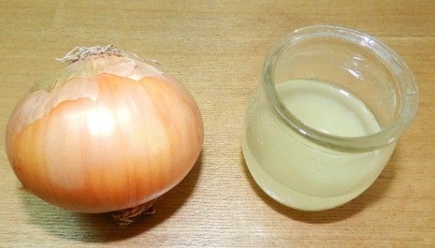Cebolla y jugo de cebolla.